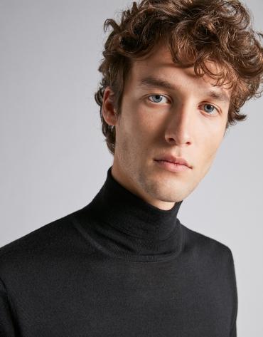 Jersey cuello vuelto negro