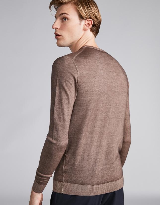 Jersey lana tintada visón
