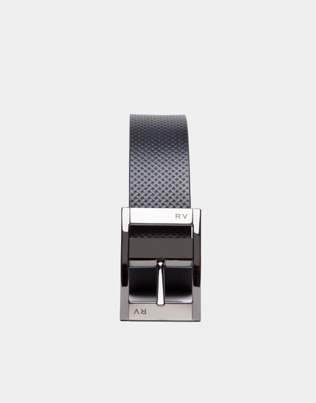 Brown/black reversible belt