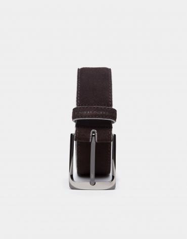 Cinturón de ante marrón