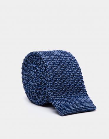 Corbata de lana en tonos azules