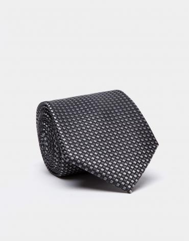 Cravate en soie dans les tons gris