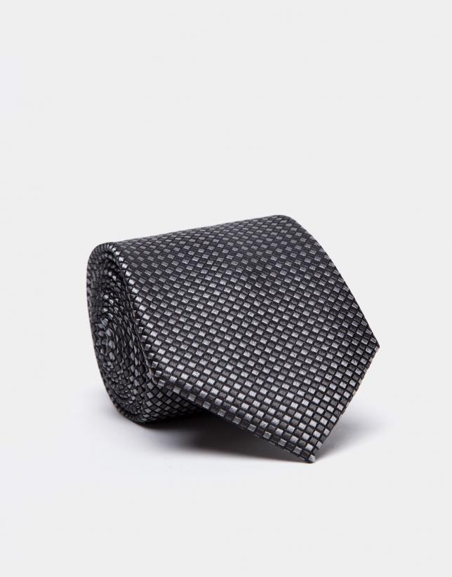 Corbata de seda en tonos grises