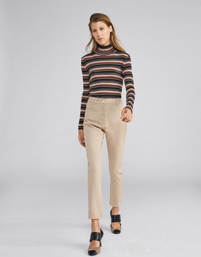 Camel pants with 4 pockets