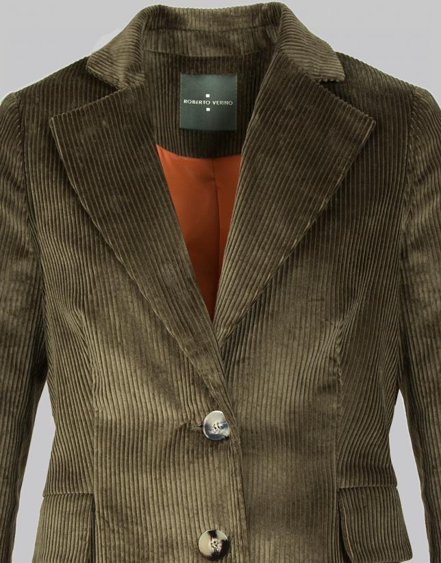 Green corduroy suit jacket