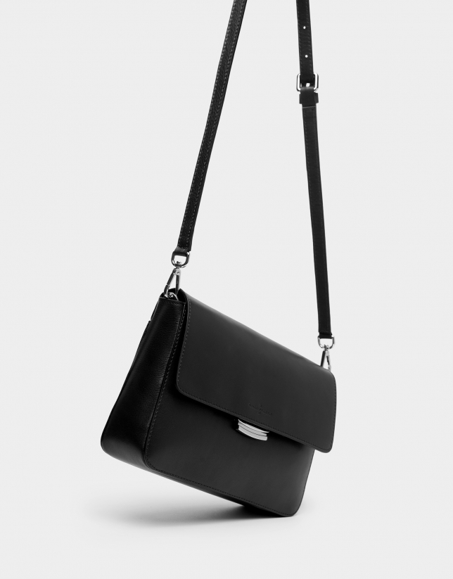 Black Joyce bag with embroidered handle