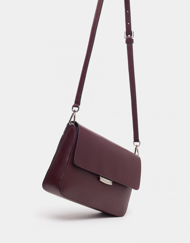 Burgundy Joyce bag with embroidered handle