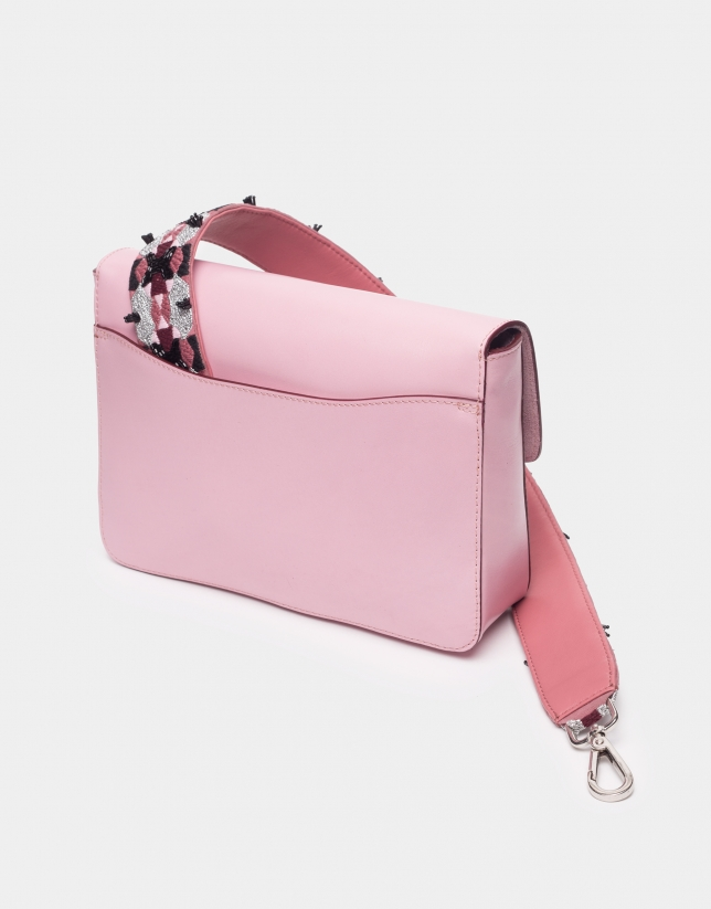 Bolso Joyce asa bordada rosa