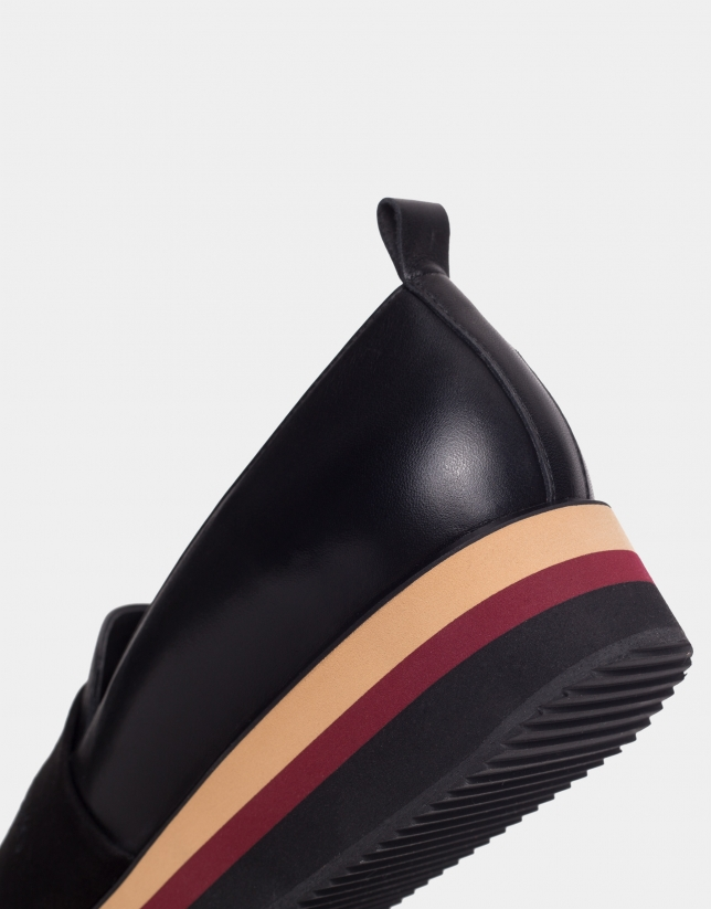 Zapato deportivo plataforma multicolor