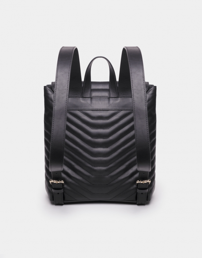 Black leather Ginger backpack