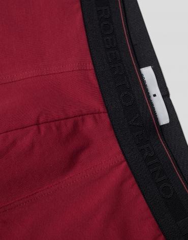 Plain red boxer shorts
