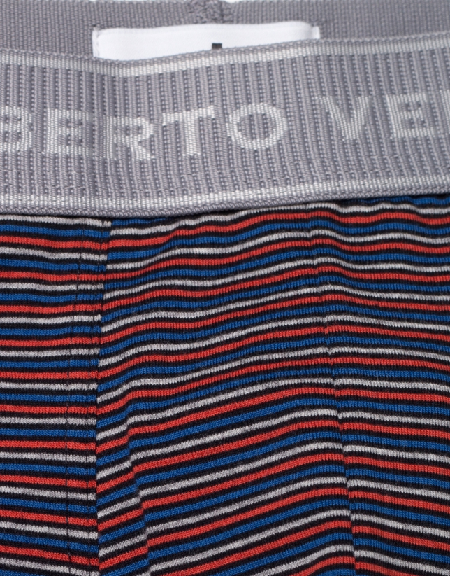 Multicolored striped boxer shorts