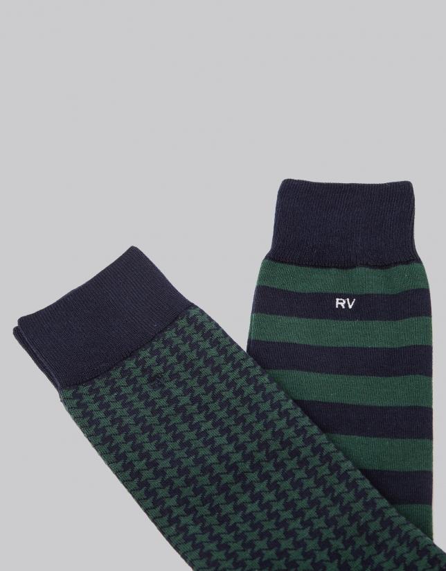 salida para la venta venta de tienda outlet nueva colección Pack calcetines azul/verde