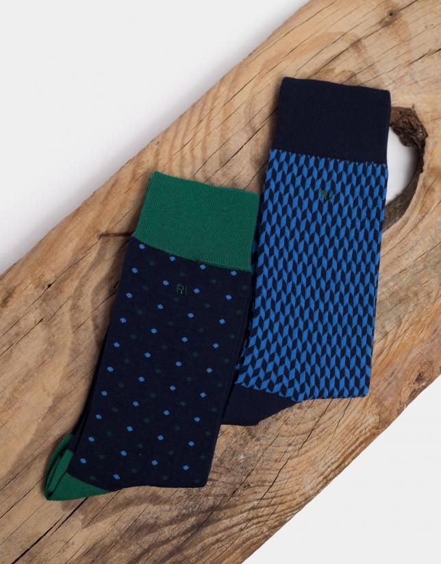 Pack de chaussettes dans les tons bleus/verts