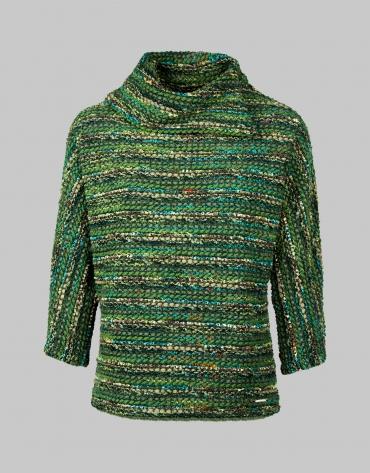 T-shirt col asymétrique vert