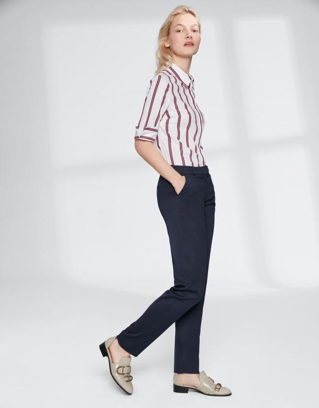 Navy blue straight pants