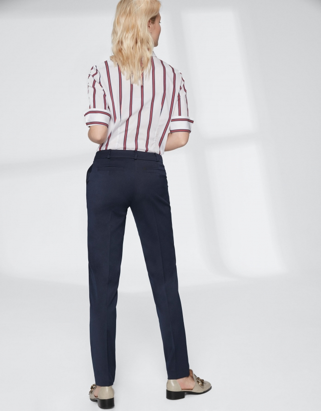 Navy blue straight pants
