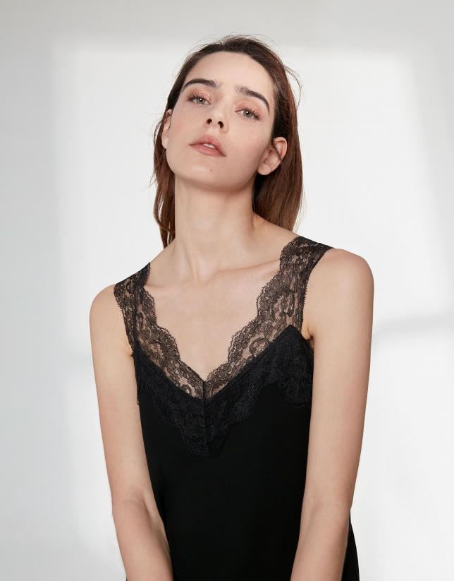 Black top with lace