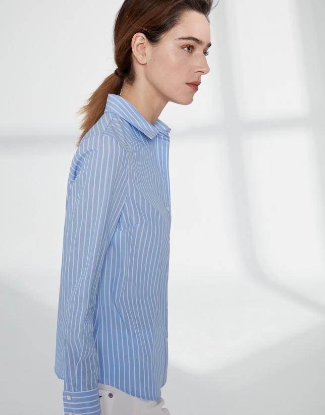 Camisa masculina rayas ultramar
