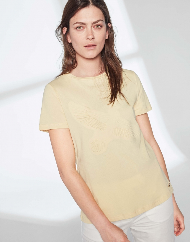 Yellow goose top