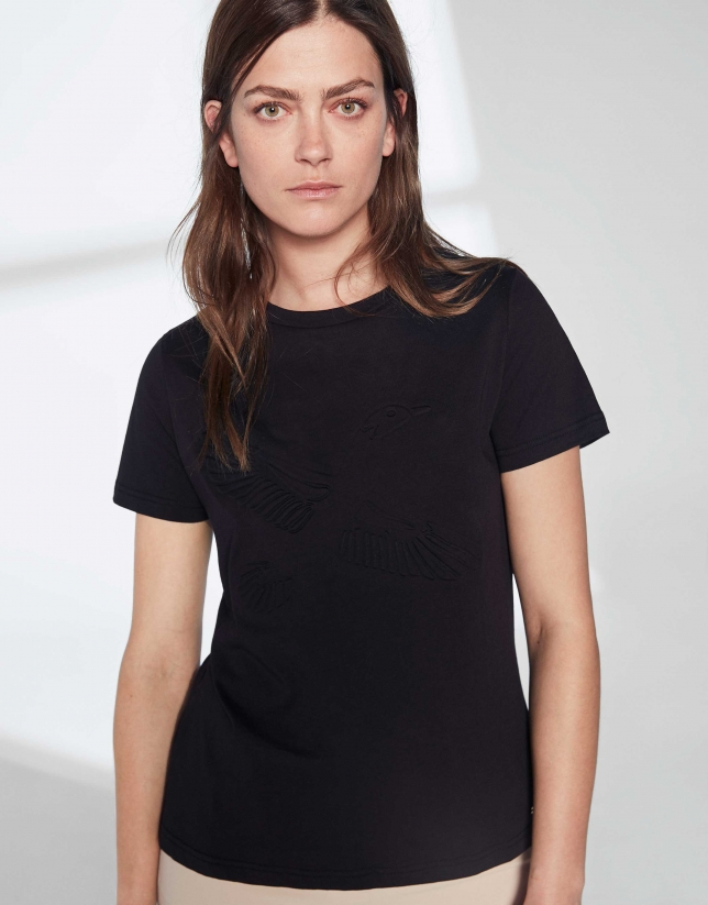Black goose top