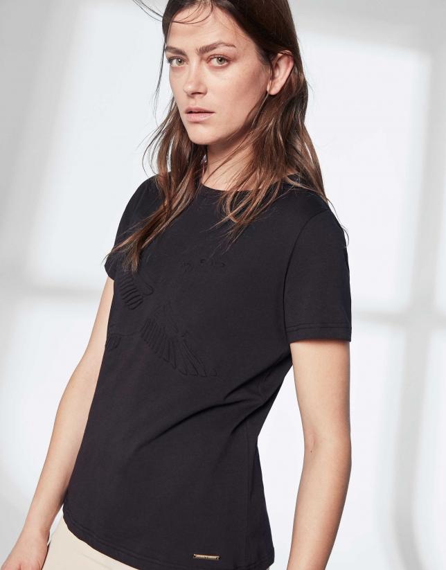 Camiseta ganso negra