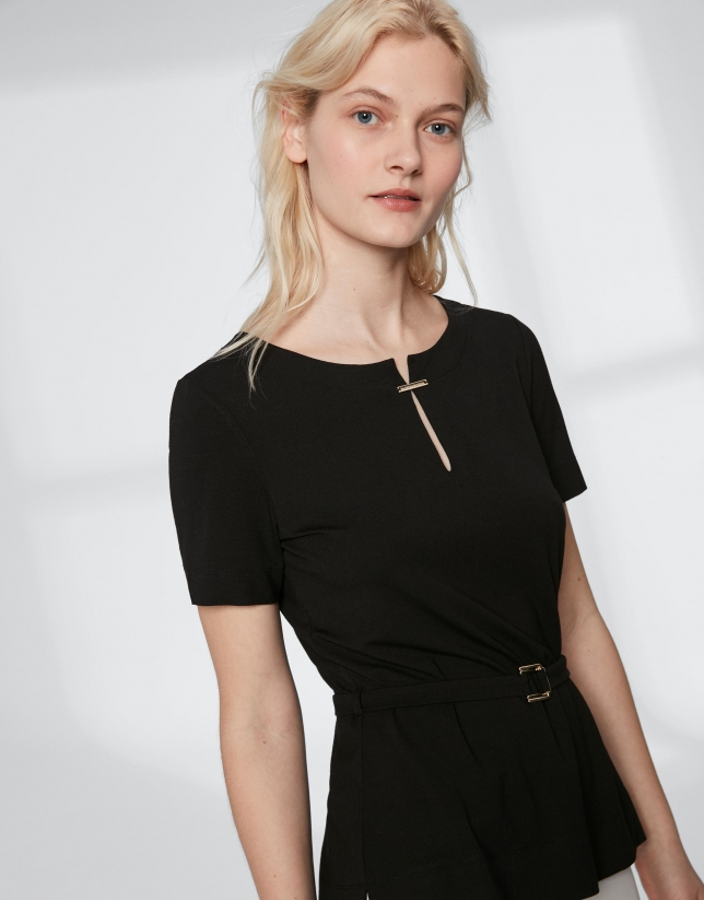 Black top with belt