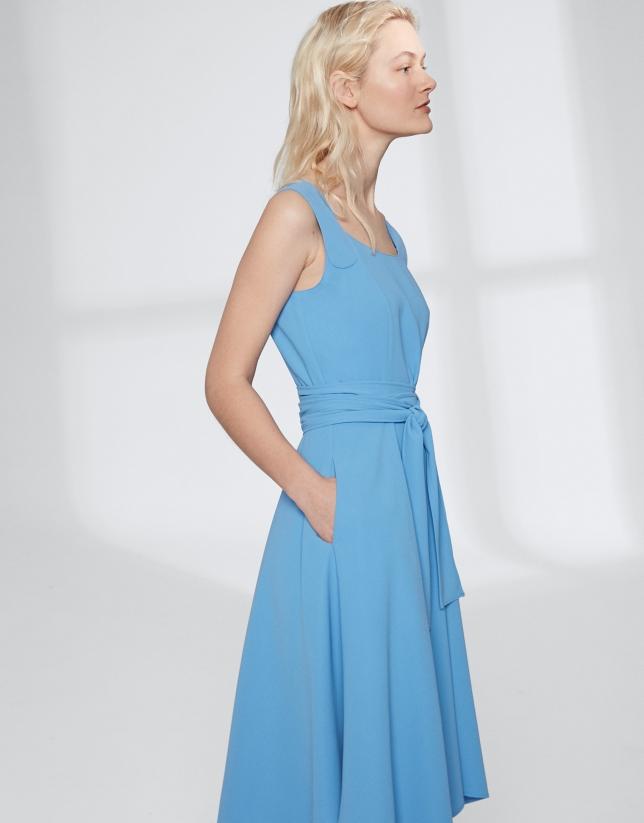 Indigo checked dress