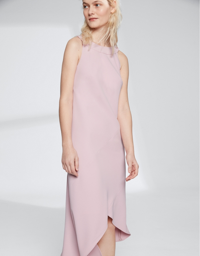 Pink quartz halter dress