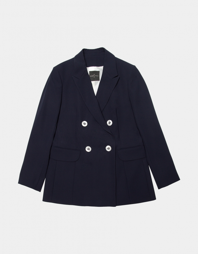Navy blure jacket with double row of buttons