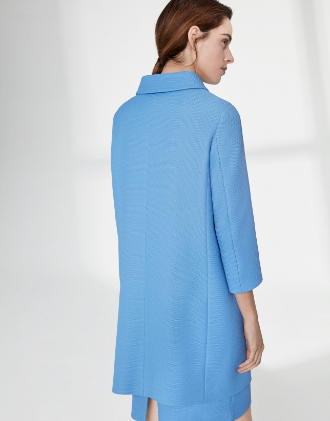 Ultramarine blue piqué dressy waist coat