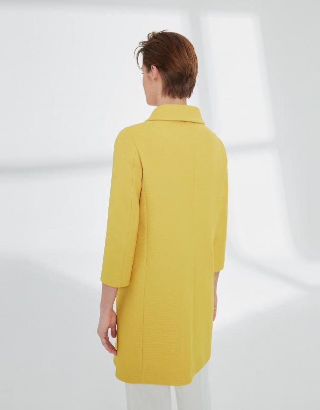 Levita vestir piqué amarillo