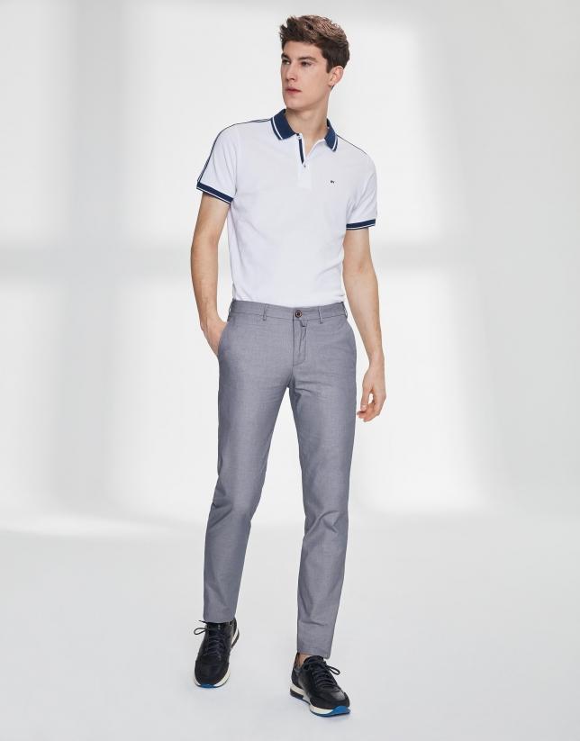 Pantalón chino ojo de perdiz azul