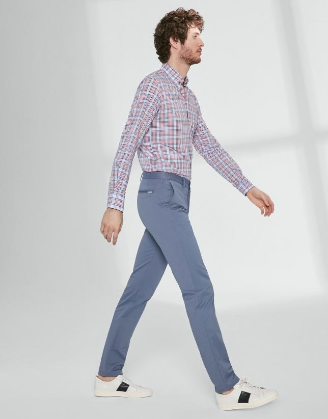 Pantalón chino básico algodón azul