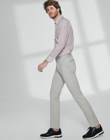 Light grey basic cotton chino pants