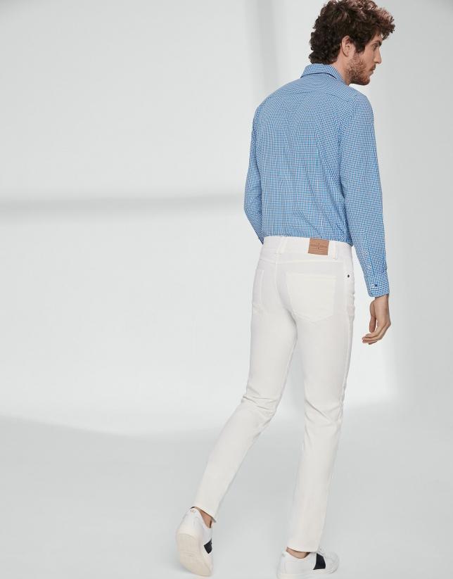 Pantalón cinco bolsillos sarga crudo