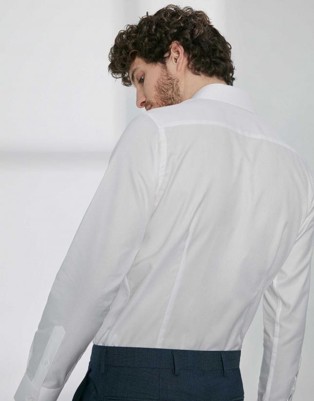 Chemise de costume faux uni blanche