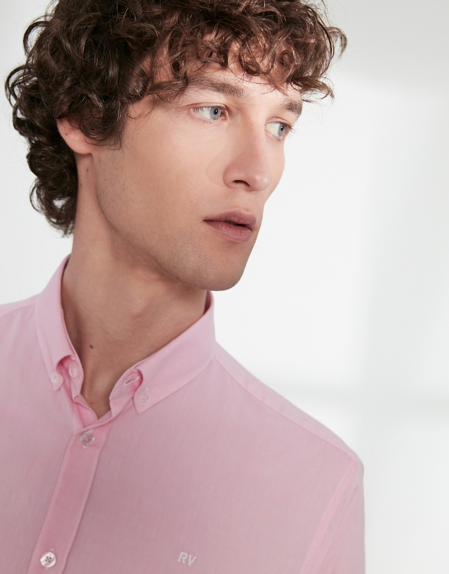Pink Oxford sport shirt