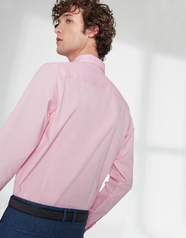 Chemise décontractée en Oxford rose