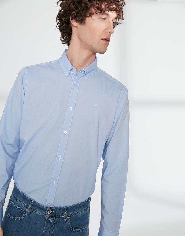 Chemise décontractée en Oxford bleu ciel
