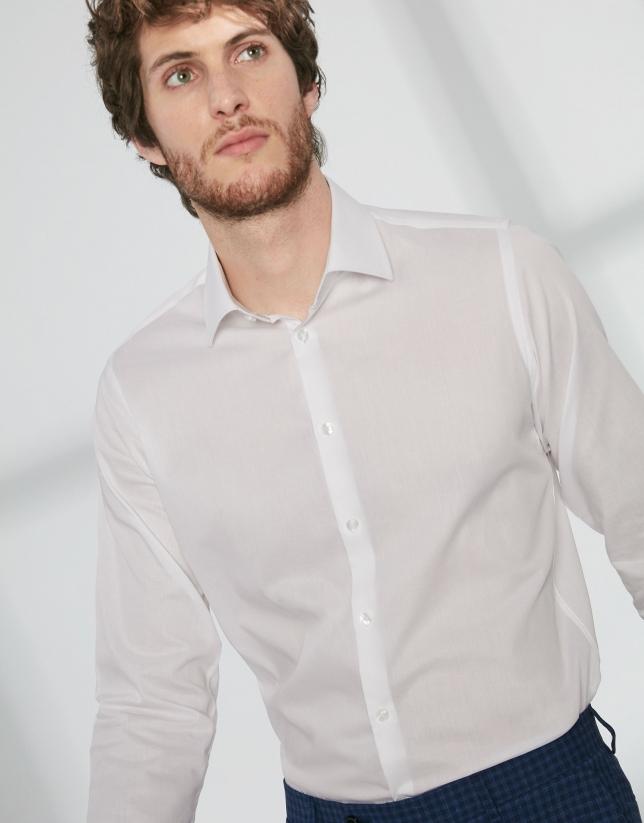 Camisa vestir sarga blanco