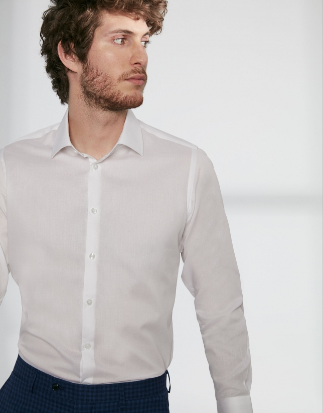 White twill dress shirt