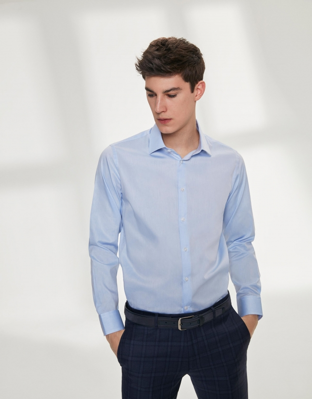 Light blue, twill dress shirt