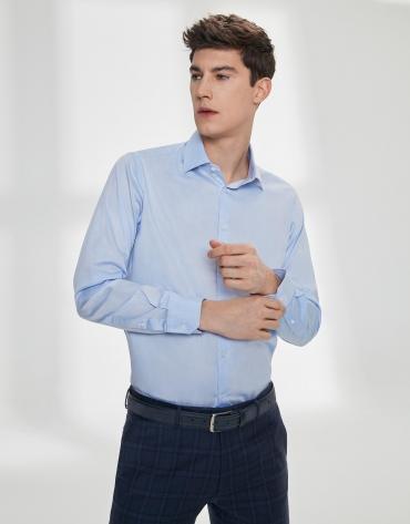 Light blue, twill dress shirt