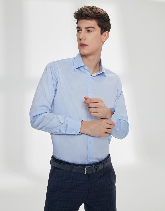 Camisa vestir sarga celeste
