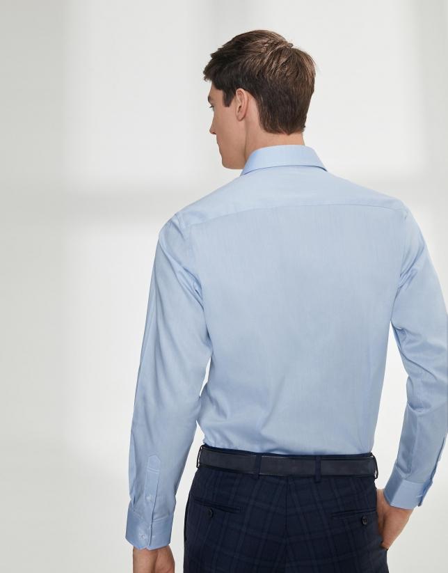 Chemise de costume sergée bleu ciel