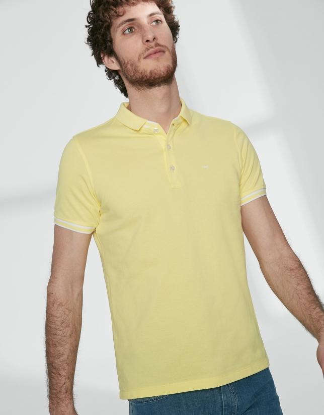 Polo piqué algodón amarillo
