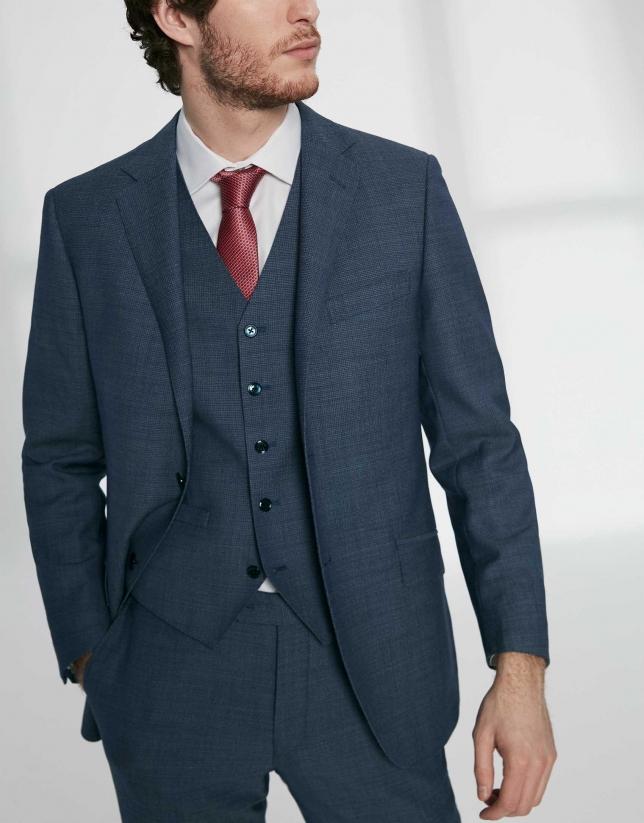 Chaleco vestir lana estructurada índigo