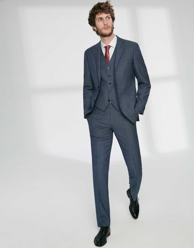 Indigo virgin wool, regular fit suit