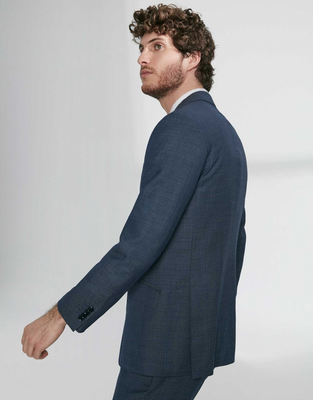 Indigo virgin wool, regular fit suit
